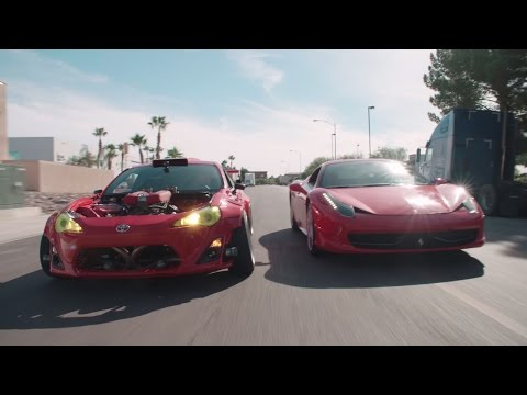 Ferrari-Powered Toyota Doing Donuts Around a 458!   The GT4586   Donut Media