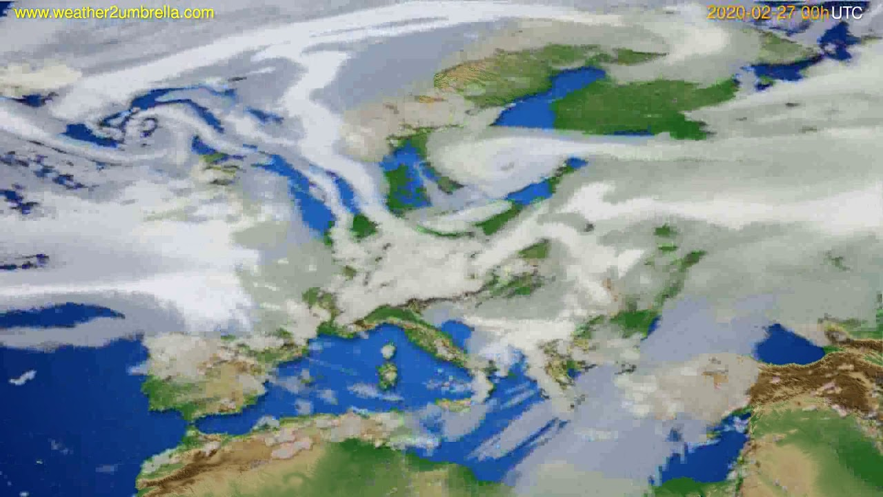 Cloud forecast Europe // modelrun: 00h UTC 2020-02-26