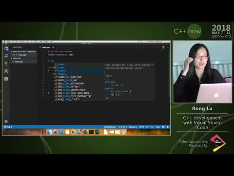 "C++Now 2018: Rong Lu ""C++ Development with Visual Studio Code�"