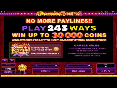 This is the Burning Desire Video Slot Game from 7 Sultans