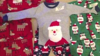 Matching Family Christmas Pajamas For Kids With Adult Mens & Women to Childrens Footed PJs