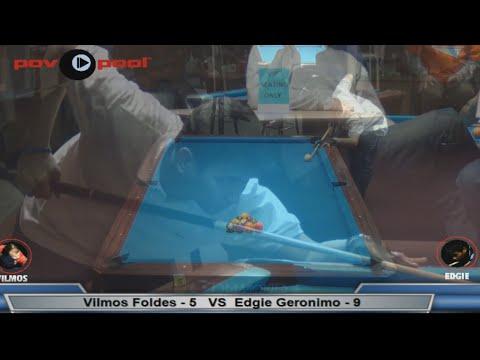 PT 1 / $10K - 10 Ball Match!  Vilmos Foldes vs Edgie Geronimo (видео)