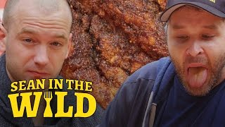 Video Sean Evans Eats L.A.'s Spiciest Fried Chicken with Brian Redban | Sean in the Wild MP3, 3GP, MP4, WEBM, AVI, FLV April 2019