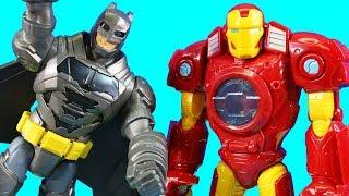 Video Imaginext Batman Rescues Iron Man Mech Robot And Web Slingin Spider-man ! Superhero Toys MP3, 3GP, MP4, WEBM, AVI, FLV Januari 2019