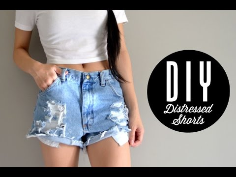 DIY Distressed Shorts   Injoyy