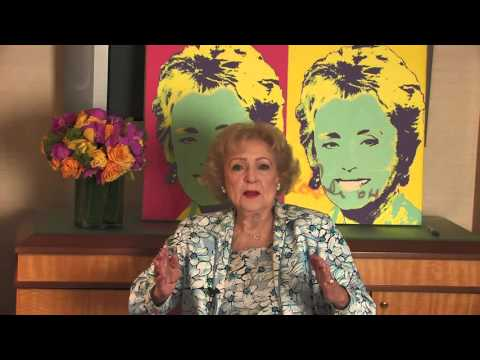 Betty White Discusses Golden Girls History  in front of Nicolosi Art NYC.