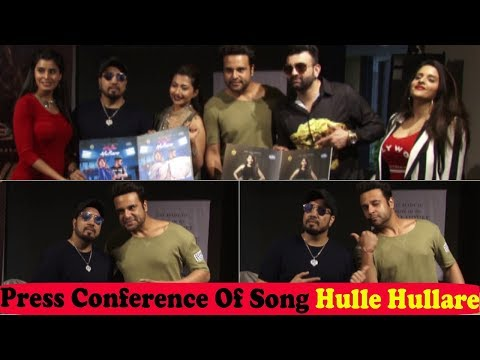 Mika Singh and Krishna Abhishek at Success Press Conference Of New Song Hulle Hullare