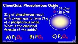 Phosphorus Oxide (Quiz)
