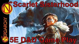 Nerdarchy Needs Your HELP!- https://www.gofundme.com/nerdarchyNerdarchy the News Letter- http://nerdarchynewsletter.gr8.com/(Session 20) Scarlet Sisterhood of Steel & Sorcery Live 5e D&D Game Play New live play online game for 5th edition Dungeons and Dragons. Featuring Nerdarchy Staff writers Samantha and Megan, not to mention awesome Pixel Scapes artist Jen. We have a barbarian half-elf, bard halfling, and rogue wood elf in our adventuring party. Are brave adventurers have arrived in the town of Gryphongaffe. Now it's time to see what kind of adventures our heroes can find while exploring this new land that is full opportunities and perhaps danger.Please Like, Comment, Share and Subscribe!Help Support Nerdarchy by Shopping at YOUR Favorites Placeson the Internet. Just use these links and shop as usual. Nothing changes for you-Amazon- http://amzn.to/2jf0boANerdarchy the Store- https://goo.gl/M4YZEQDrive Thru RPG- https://goo.gl/6nf5zhEasy Roller Dice- https://goo.gl/1n0M1rFind Us-Patreon:  https://www.patreon.com/NerdarchyWebsite:  https://www.Nerdarchy.comFacebook:  https://www.facebook.com/NerdarchyInstagram:  https://www.instagram.com/Nerdarchy/Twitter: https://www.twitter.com/NerdarchySnapChat: https://www.snapchat.com/add/NerdarchyPinterest:  https://www.pinterest.com/Nerdarchy/Tumblr:  http://www.Nerdarchy-blog.tumblr.com/Music By- www.soundcloud.com/zerofluxboundary