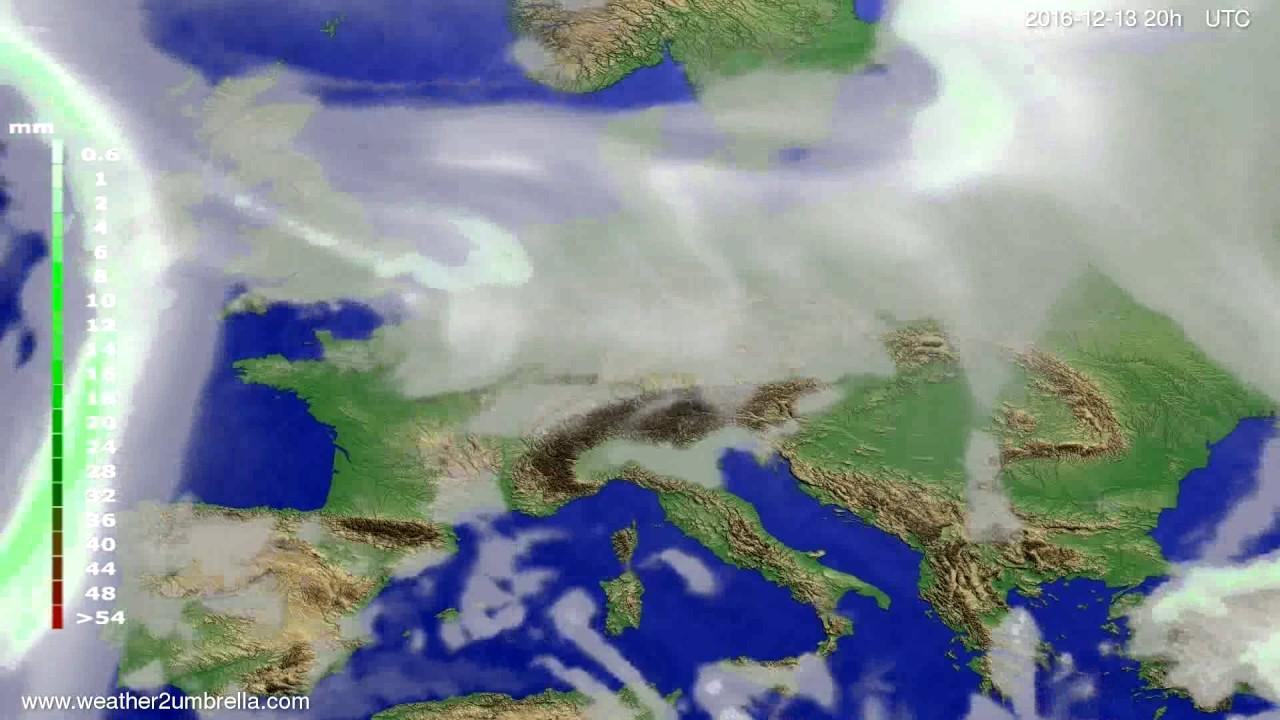 Precipitation forecast Europe 2016-12-11