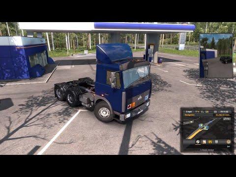 ETS2 1.35 Mods |Truck Mod| - Let Test with Kmaz 6422 Truck Mod