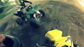 4. 2012 Suzuki ltz400 LE Limited Edition + 2010 Suzuki QuadSport LTZ 400 yellow   ATV Quad Bike riding