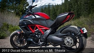 5. MotoUSA 2012 Ducati Diavel Carbon vs Mt. Shasta