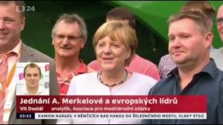 Jednání Angely Merkelové s evropskými lídry