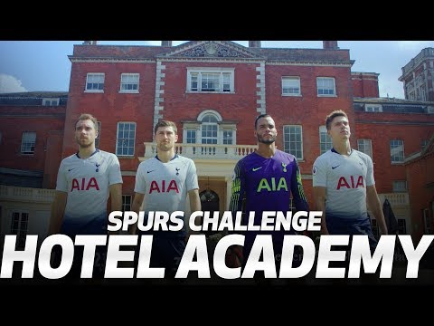 Video: CHALLENGE | SPURS VISIT HOTELS.COM HOTEL ACADEMY