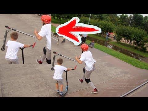 ЧУТЬ НЕ УБИЛ мальчика на самокате🛴 (видео)