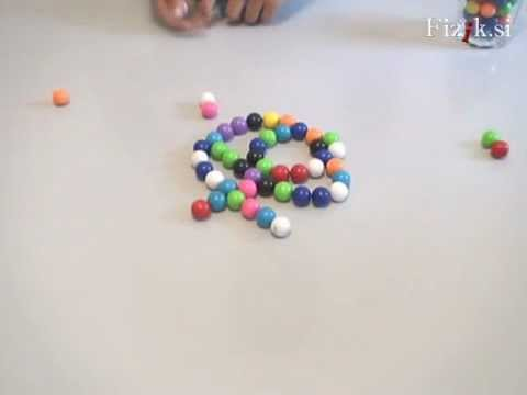 Magnetic marbles - physics experiment
