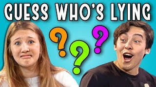 Video CAN YOU GUESS WHO'S LYING? | Poker Face (REACT) MP3, 3GP, MP4, WEBM, AVI, FLV Desember 2018