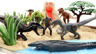 Video DIY VOLCANO ERUPTION. Jurassic World2 Fallen Kingdom Dinosaurs - Indoraptor VS Blue Toys For Kids MP3, 3GP, MP4, WEBM, AVI, FLV Januari 2019