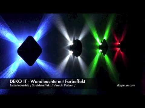 DEKO IT! LED-Wandleuchte mit Strahleneffekt / Batteriebetrieb