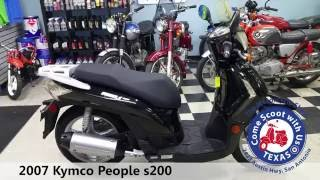 6. 2007 Kymco people s200 used scooter moped