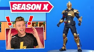 *NEW* SEASON X BATTLEPASS In Fortnite (GOLD KNIGHT?!?)