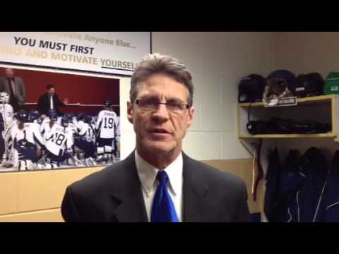 Women's Hockey:  Coach Collins Discusses 4-0 Loss to Stevens Point