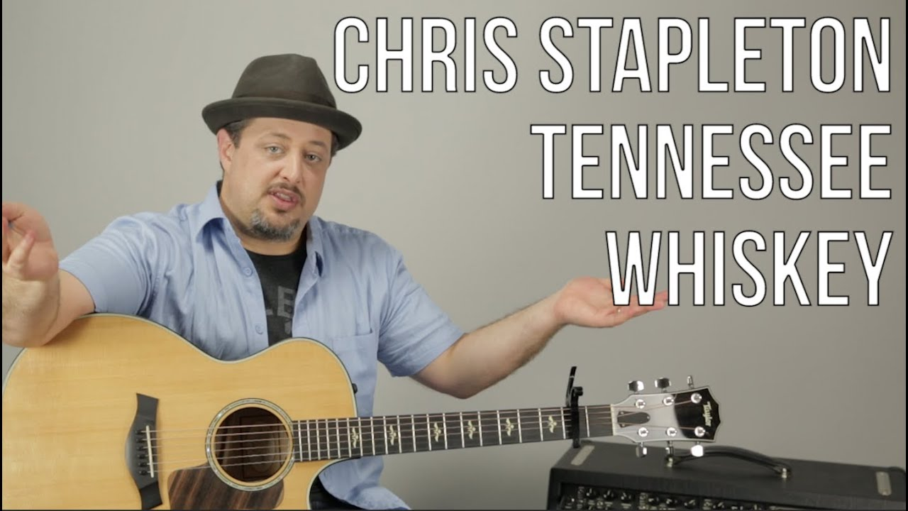 Chris Stapleton – Tennessee Whiskey – Guitar Lesson – How To Play Super Easy Beginner Acoustic