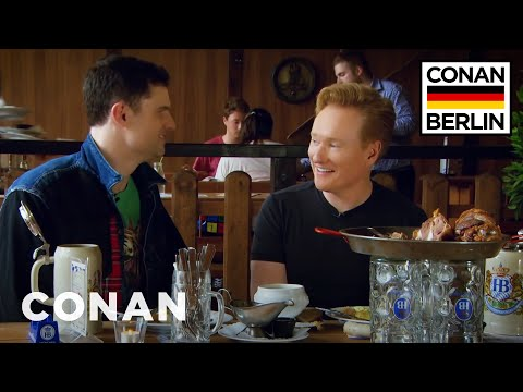 Conan's Lunchtime German Lesson With Flula Borg  - CONAN on TBS (видео)