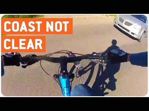 Mountain Biker Gets Hit by Car | Coast Not Clear (видео)
