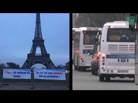 Concert de klaxons à Paris, 300 cars manifestent contre les mesures anti-diesel