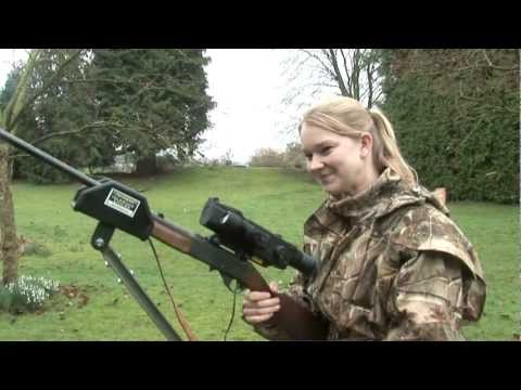 Abbey Burton hunts rabbits with night vision