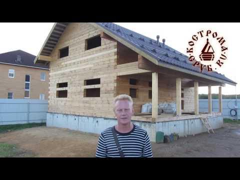 Строительство двухэтажного дома из бруса