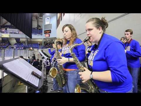 Being part of the pep band