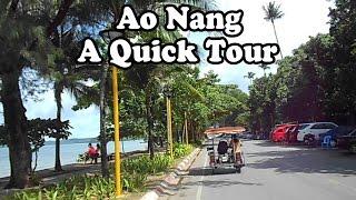 Ao Nang, Krabi, Thailand, A Short Tour. The Beach, Hotels, Restaurants&services On The Main Street