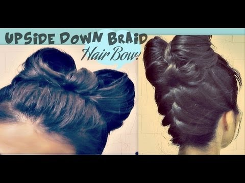 upside down french braid - Don't forget to LIKE & FAVORITE to try this hairstyle later! ♥ http://www.makeupwearables.com/2013/01/hair-bow-hairstyle-upside-down-braid.html How to hair...
