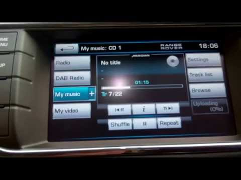 How to upload CD's into the memory on the Range Rover Evoque audio system