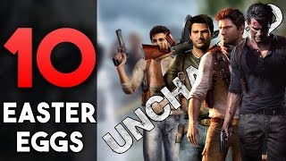 """Here are 10 Easter Eggs in Naughty Dog's other Masterpiece that is Uncharted.Hope You Enjoy!Subscribe and Hit the Notification Bell to Keep up to Date with When I Upload!►Subscribe to me here!: http://www.youtube.com/subscription_c…►Follow me on Instagram: https://www.instagram.com/o_knightz_o/ ►Check out Other Easter Egg Here!: https://www.youtube.com/playlist?list=PLud5z0-p8XHghQADyX6zBUkw12elgapjuUncharted is an action-adventure third-person shooter platform video game series developed by Naughty Dog and published by Sony Interactive Entertainment for PlayStation consoles. The series follows protagonist Nathan """"Nate"""" Drake (portrayed by Nolan North through voice and motion capture) a charismatic yet rebellious treasure hunter who journeys across the world to uncover various historical mysteries. The main series began with Uncharted: Drake's Fortune released on the PlayStation 3 in 2007, followed by its sequels Uncharted 2: Among Thieves (2009), Uncharted 3: Drake's Deception (2011), with the final installment Uncharted 4: A Thief's End released in 2016 on the PlayStation 4. A prequel Uncharted: Golden Abyss was released for Sony's PlayStation Vita handheld system in 2011, followed by the card game spin-off Uncharted: Fight for Fortune. All four games in the main series have been widely acclaimed by critics and video game publications for raising the standards of single-player video games, particularly with the series' second installment Among Thieves which is considered one of the greatest video games of all time. Reviewers have praised the games for its high production values, quality in storytelling, character design and animation, voice acting, realistic graphics, technical innovation, music score, gameplay mechanics, and delivering an enjoyably cinematic gaming experience to players.Music: Artist: Ross BugdenSong: A Legend's AdventureSource:►Epic Adventure Music◄ A Legend's Adventure (Copyright/Royalty Free)"""