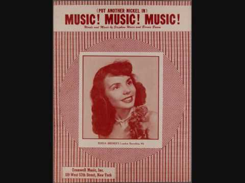 Teresa Brewer - (Put Another Nickel In) Music, Music, Music (1950)