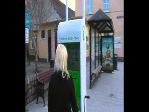 worlds first solar powered information kiosk