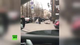 Первые секунды после убийства бывшего депутата Госдумы России Вороненкова в Киеве