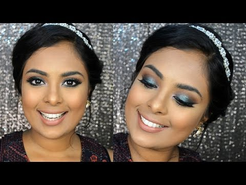 Using - Emerald Green Sparkly Smokey Eyes - Eid Makeup Tutorial A beautiful green smokey eyes for brown eyes and tan/ dark indian skin Products used: Brush set by Beauty Artisan: http://www.brushforyou.co...
