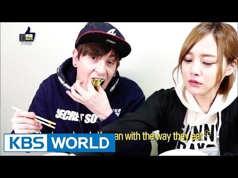 Dave & Erina - Korea's unique eating culture [Battle Likes] (видео)