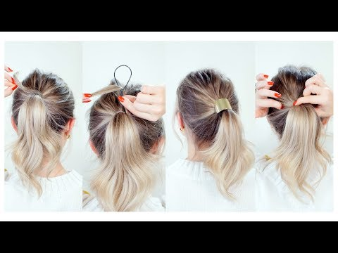 Hairstyles for short hair - Hair Tips & Tricks: How To Hide Hair Elastics
