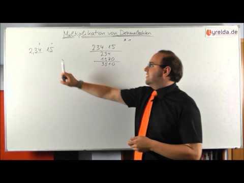 schriftliche Multiplikation (Dezimalzahlen)