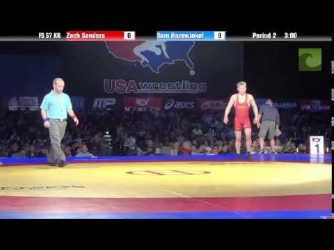 57 KG SF – Zach Sanders (Minnesota Storm) vs. Sam Hazewinkel (Sunkist Kids)