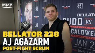 Bellator 238: AJ Agazarm Says He Finished Opponent With 'Agazarm' Submission - MMA Fighting by MMA Fighting
