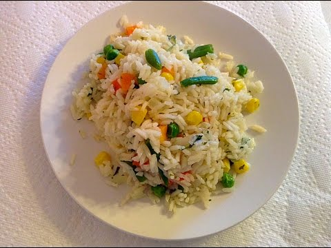 ARROZ BLANCO CON VEGETALES