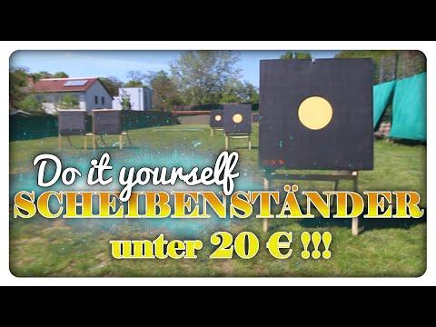 Scheibenständer bauen für unter 20 € - Do it yourself - Compoundbogen tauglich