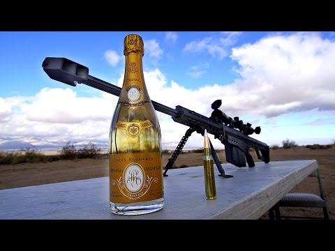 How To Uncork Cristal Champagne with a 50 Cal
